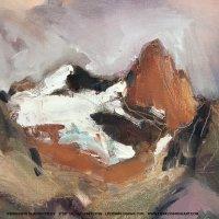 Expressive Glacier Study by Lisa Flynn